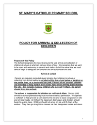 Arrival and Collection Policy