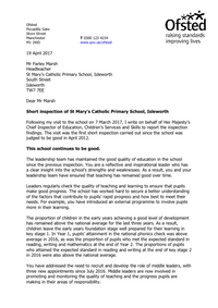 OfSTED March 2017